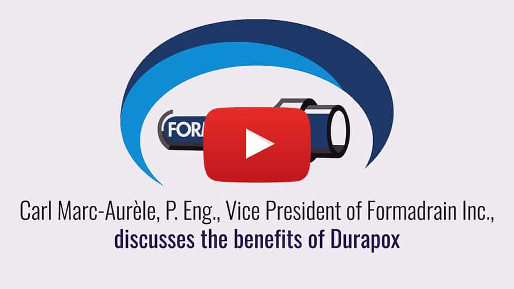 Carl Marc-Aurèle, P.Eng., Vice-President of Formadrain, explains the benefits of prepared liners made for you at Formadrain's facility using Durapox
