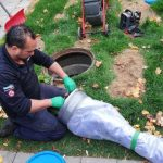 Toronto Licensee Enjoys a Banner Year with FORMADRAIN - Man preparing sewer lateral lining